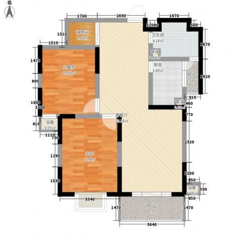 荣亨逸都2室1厅1卫1厨102.00㎡户型图