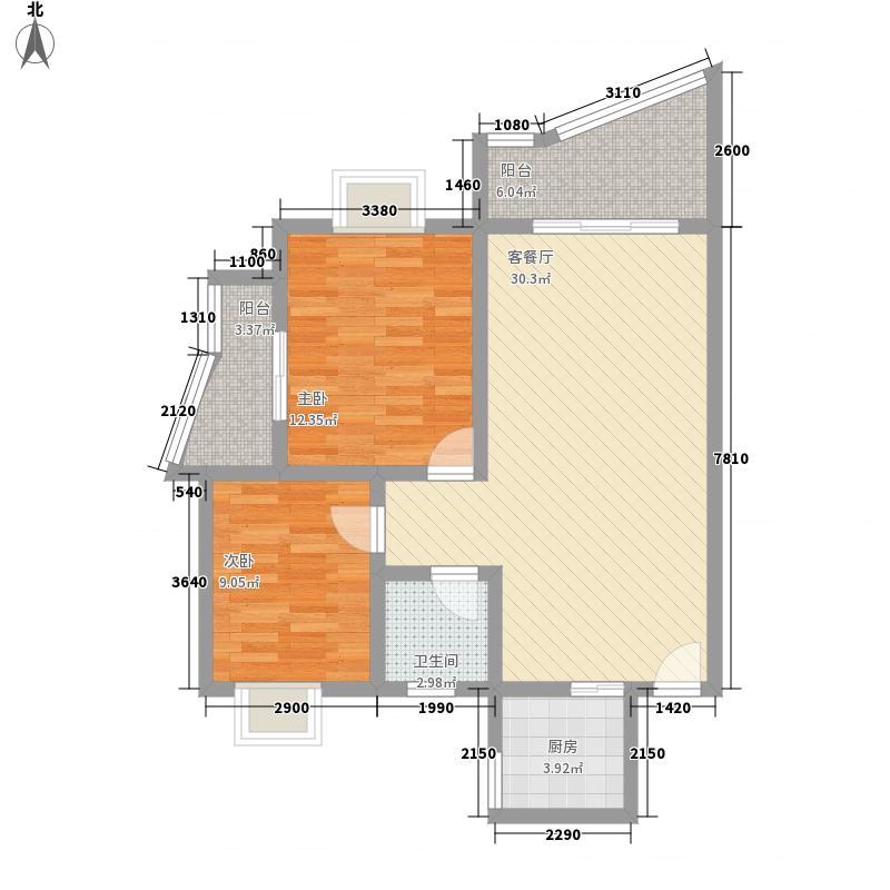 博泰华庭128.00㎡户型3室