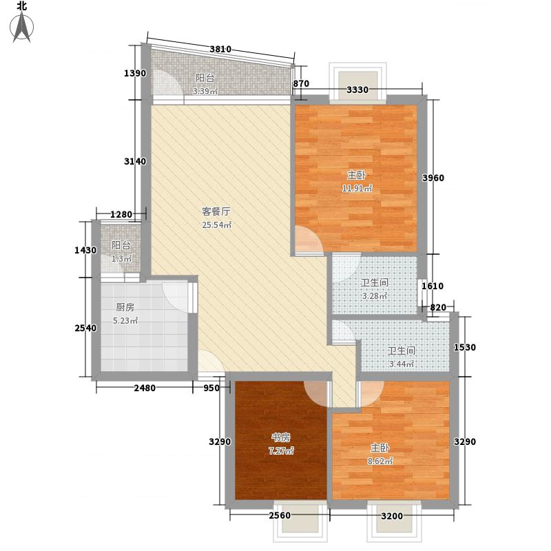 金色家园99.99㎡金色家园户型图3室2厅2卫1厨户型10室