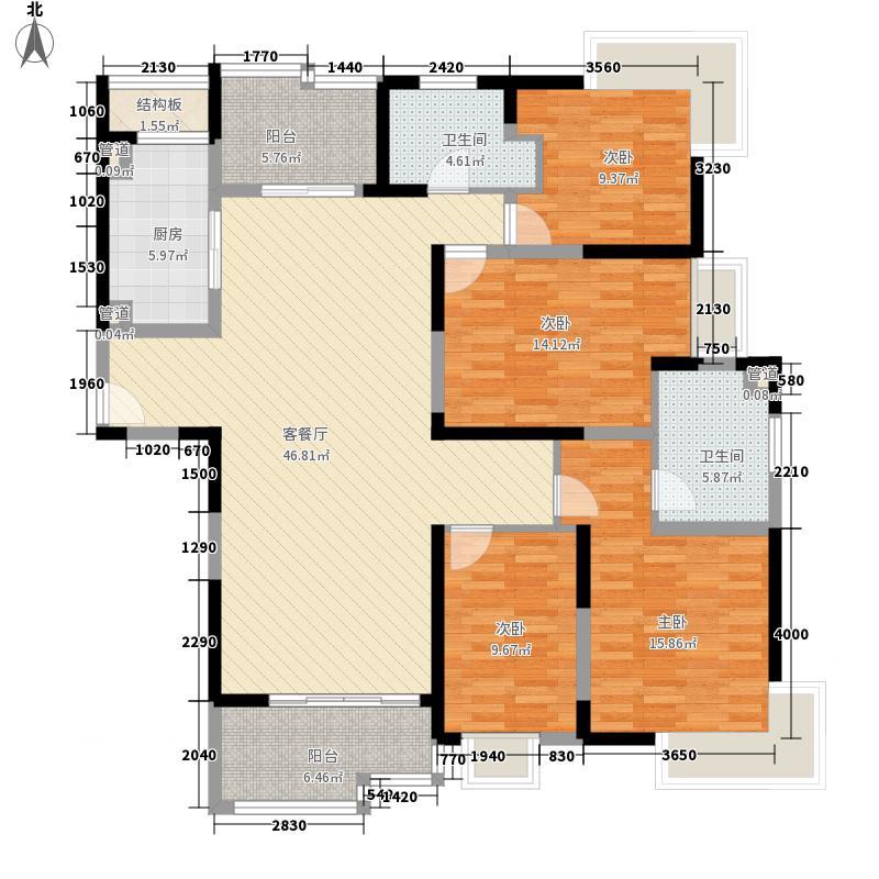 苏河融景181.00㎡D户型4室2厅2卫1厨