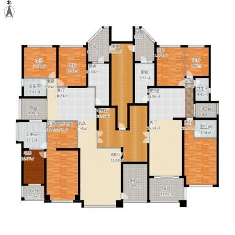 恒大华府7室1厅4卫2厨542.00㎡户型图