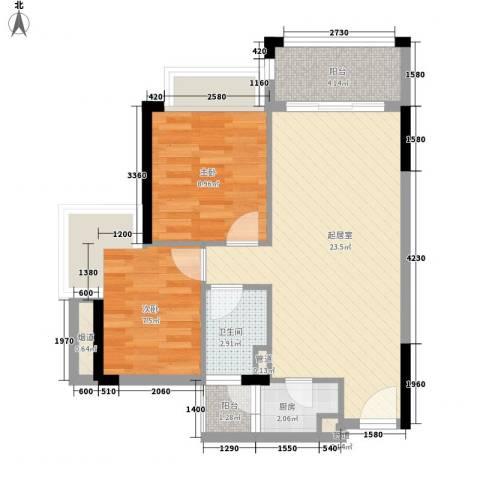 雍景家园2室0厅1卫1厨70.00㎡户型图