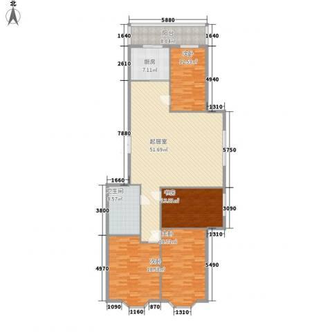 隆庆河畔家园4室0厅1卫1厨139.11㎡户型图