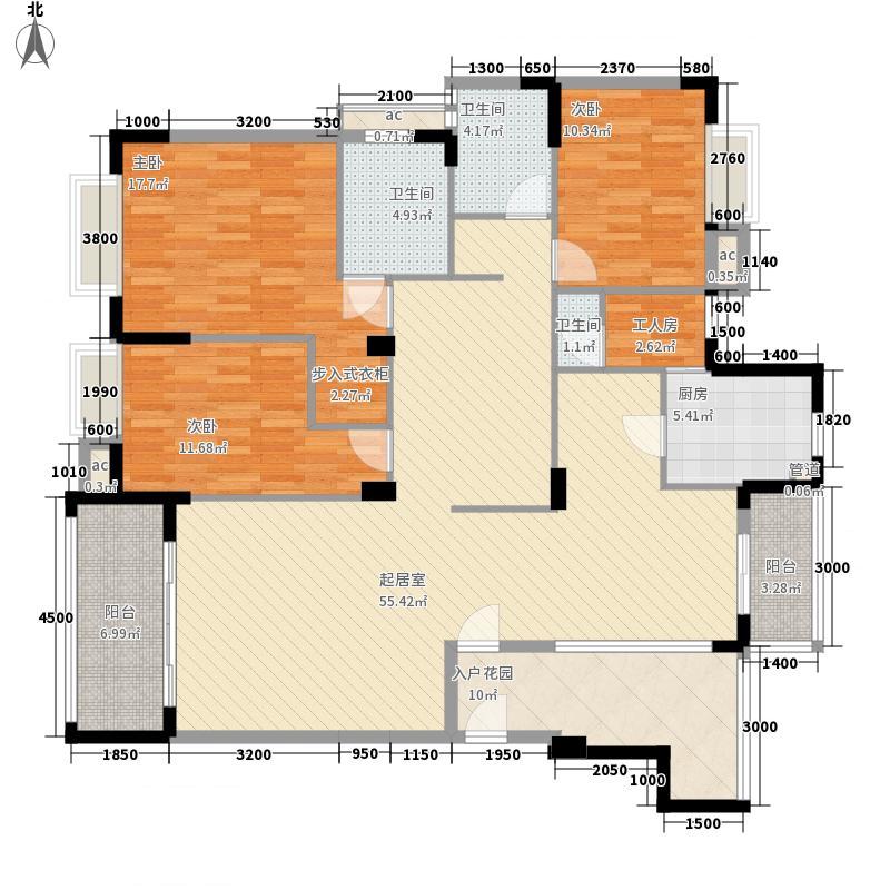 东泰花园泰华苑 4室 户型图