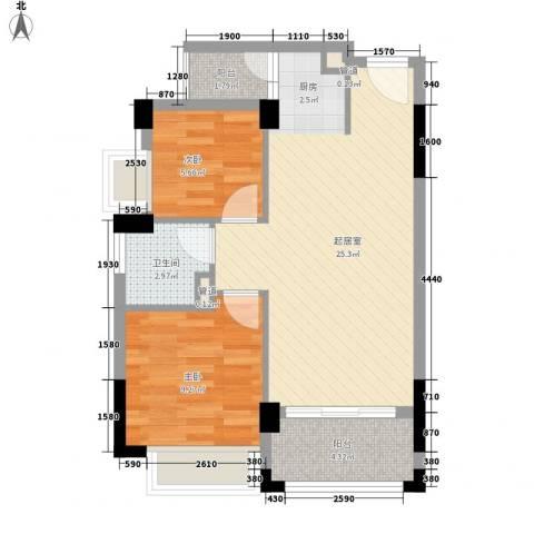 雍景家园2室0厅1卫0厨69.00㎡户型图