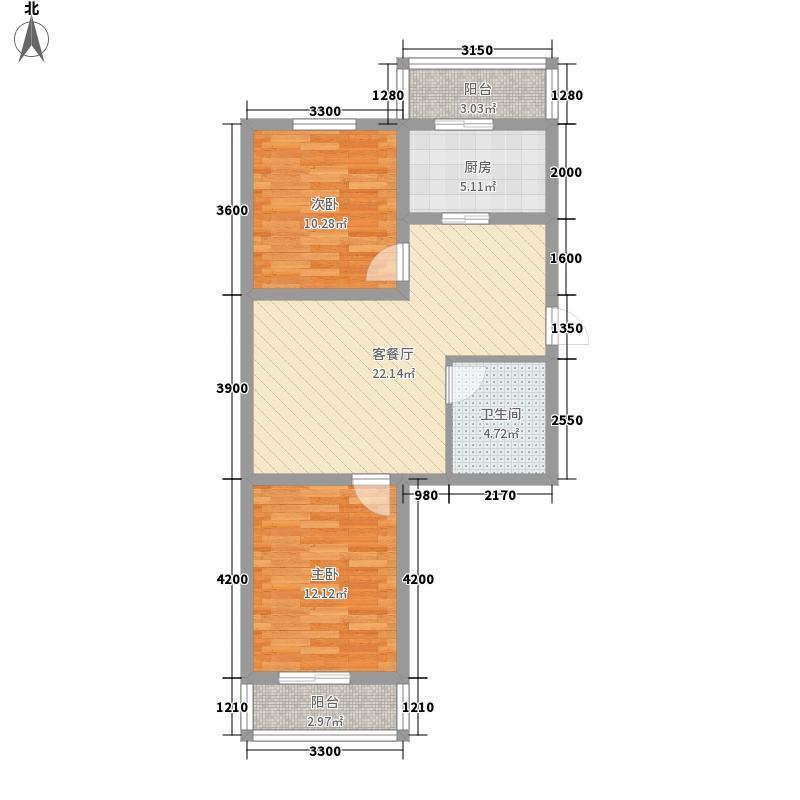 万和顺景74.48㎡万和顺景户型图2室2厅1卫户型10室