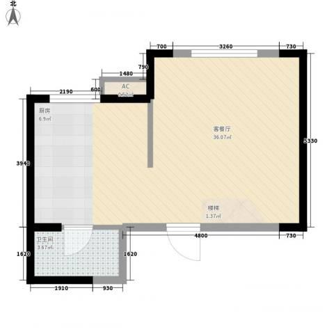 中央复兴里1厅1卫0厨110.00㎡户型图
