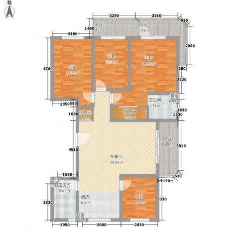 印象江南4室1厅2卫0厨167.00㎡户型图