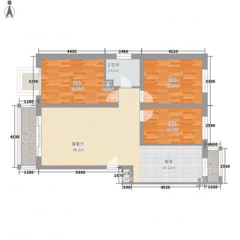 金川新城3室1厅1卫0厨120.00㎡户型图