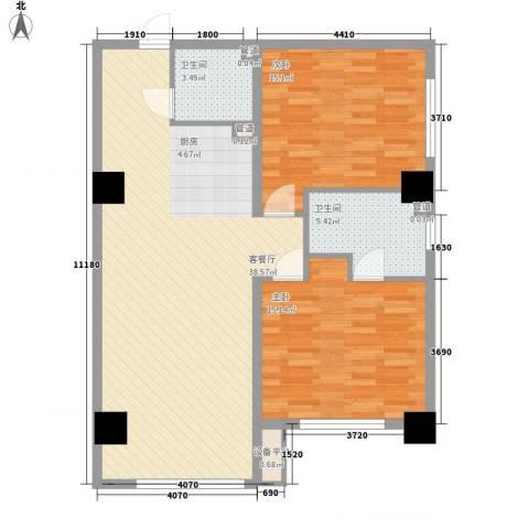 丰登公寓2室1厅2卫0厨111.00㎡户型图