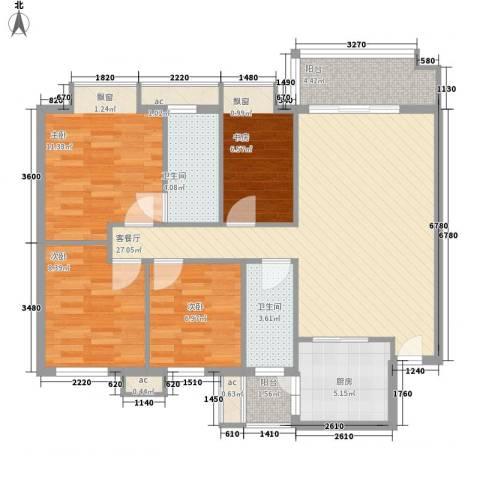 汇商花苑漫城4室1厅2卫1厨103.00㎡户型图
