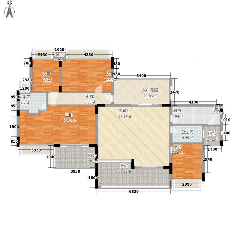 御花苑海蓝湾175.00㎡御花苑海蓝湾5室户型5室