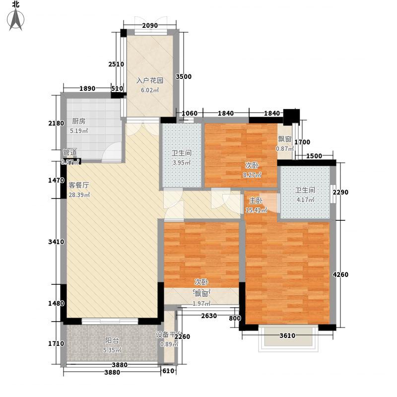 汇豪领逸9栋03/04户型3室2厅2卫1厨