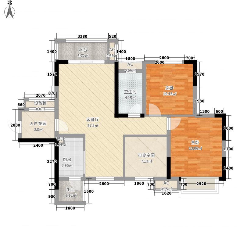剑桥小镇三期5号楼标准层D-3户型3室2厅1卫1厨