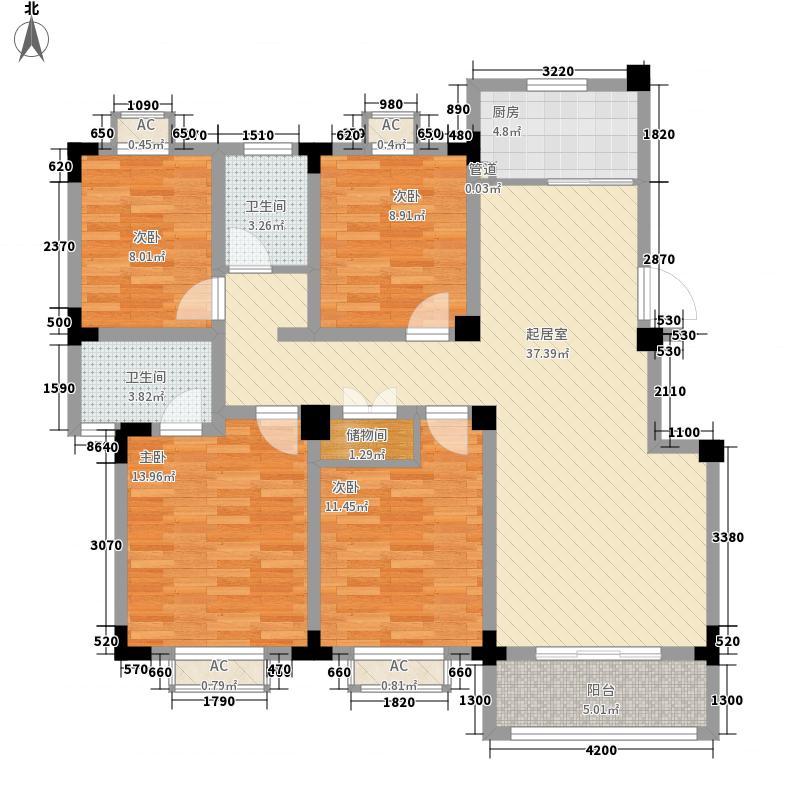 尚泽时代广场123.31㎡尚泽时代广场户型图F4室2厅2卫1厨户型4室2厅2卫1厨