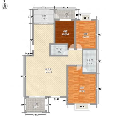 丽苑小区3室0厅2卫1厨183.00㎡户型图