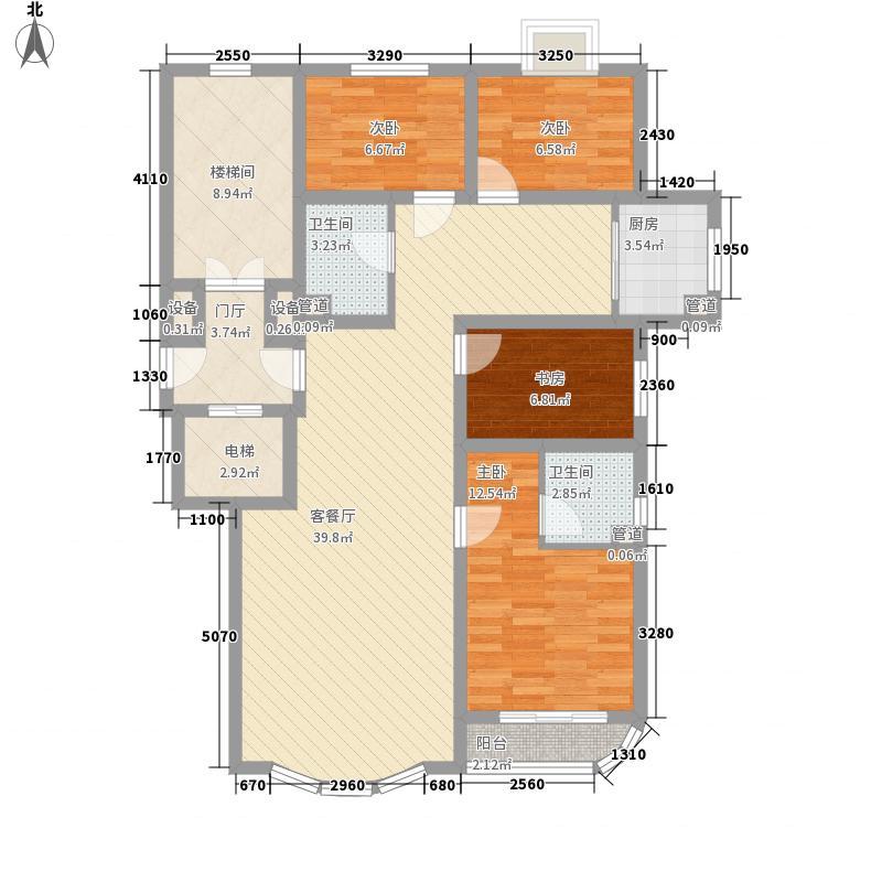 松石名第147.70㎡户型4室2厅2卫1厨