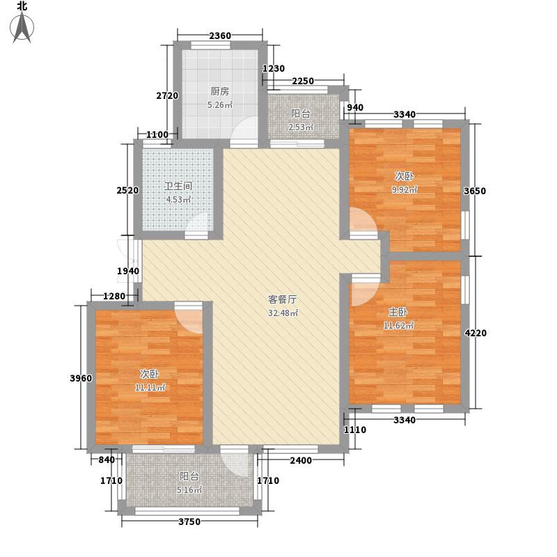 新城公园壹号119.50㎡新城公园壹号户型图3室2厅1卫1厨户型10室