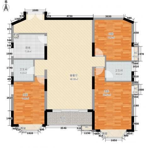 维一星城3室1厅2卫1厨168.00㎡户型图