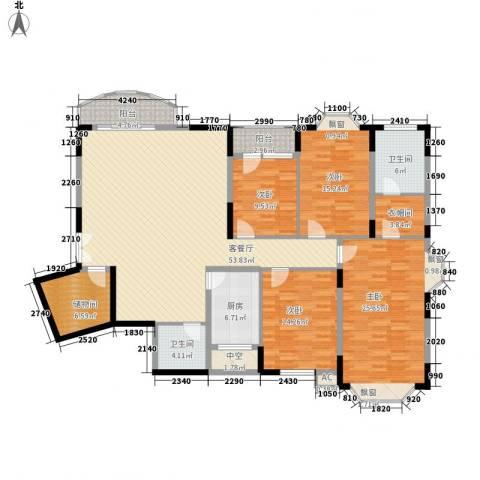 维一星城4室1厅2卫1厨216.00㎡户型图