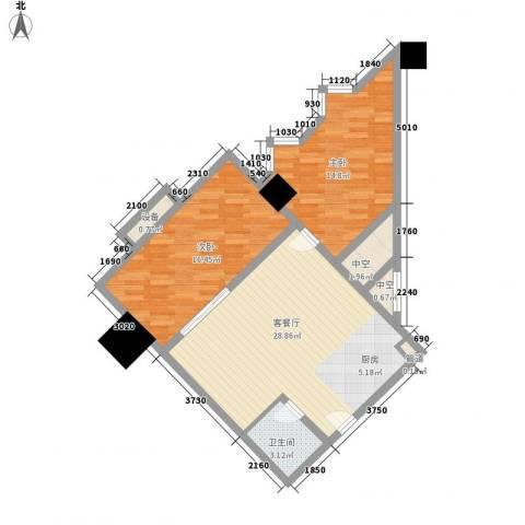 乐客来国际商业中心2室1厅1卫0厨97.00㎡户型图