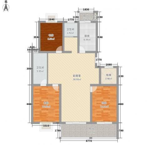 西欧名邸3室0厅2卫1厨148.00㎡户型图