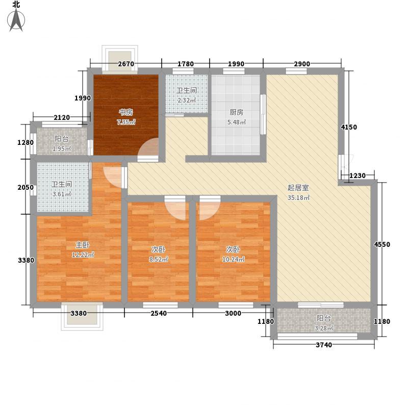 蓝城丽景湾131.60㎡蓝城丽景湾户型图D1户型4室2厅2卫1厨户型4室2厅2卫1厨