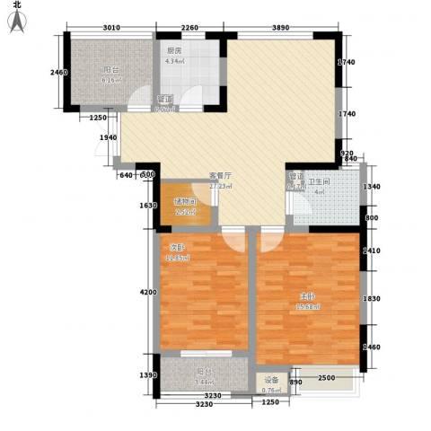 兰陵锦轩2室1厅1卫1厨111.00㎡户型图