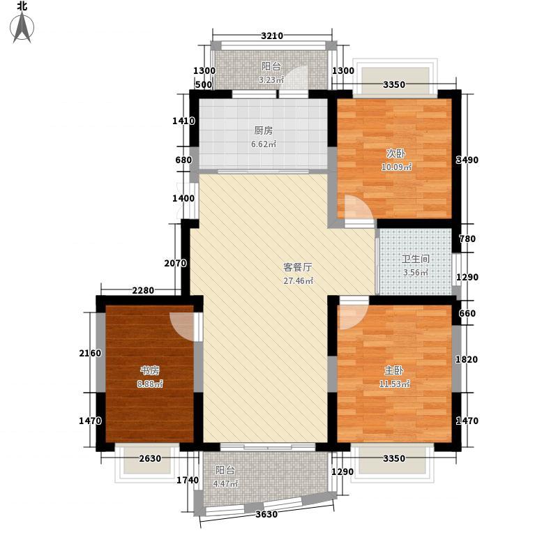 蓝海现代城109.33㎡蓝海现代城户型图4#户型3室2厅2卫1厨户型3室2厅2卫1厨