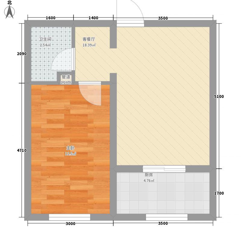 城市印象50.43㎡城市印象户型图E已售完1室1厅1卫1厨户型1室1厅1卫1厨
