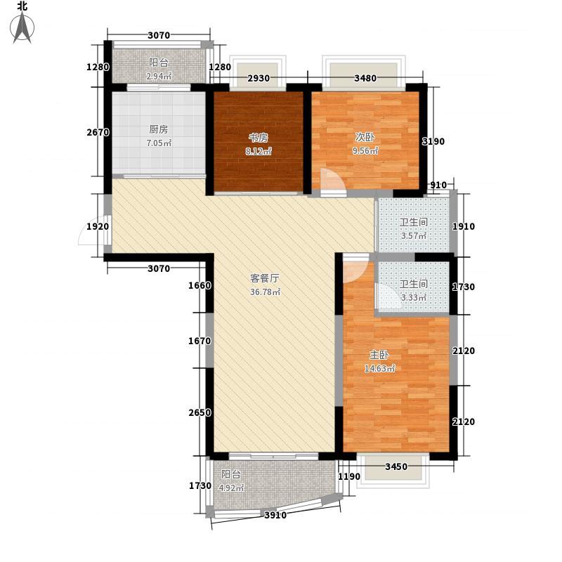 蓝海现代城129.91㎡蓝海现代城户型图4#户型3室2厅2卫1厨户型3室2厅2卫1厨