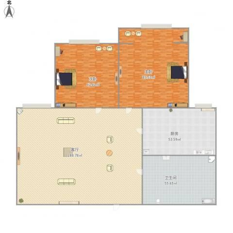 和泰花园2室1厅1卫1厨572.00㎡户型图