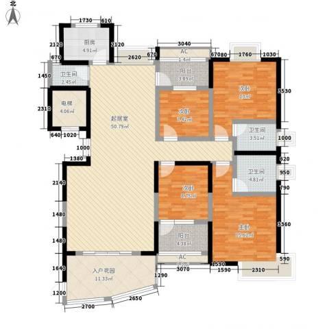 联泰香域尚城4室0厅3卫1厨171.00㎡户型图
