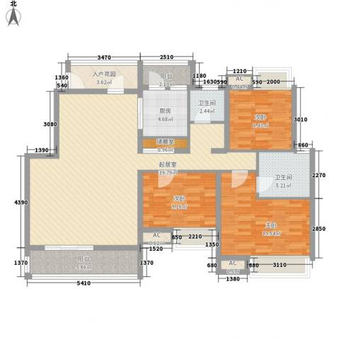 华润澜溪镇3室0厅2卫1厨143.00㎡户型图