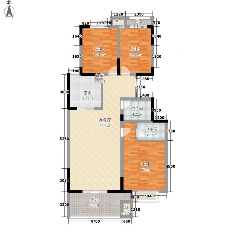 铜雀台114.00㎡A户型3室2厅2卫1厨