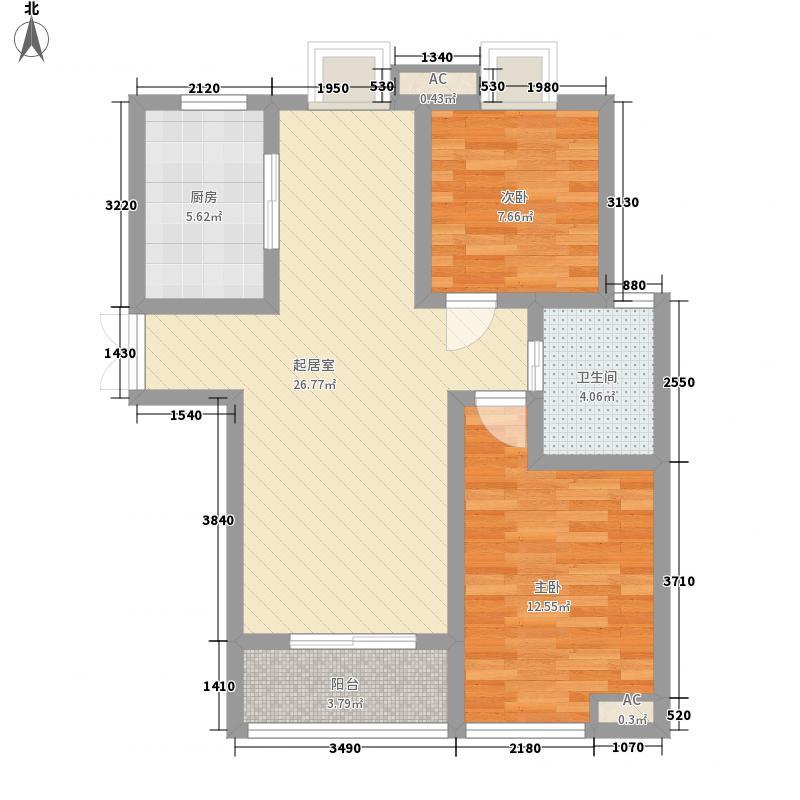 蓝城丽景湾89.80㎡蓝城丽景湾户型图F3户型2室2厅1卫1厨户型2室2厅1卫1厨