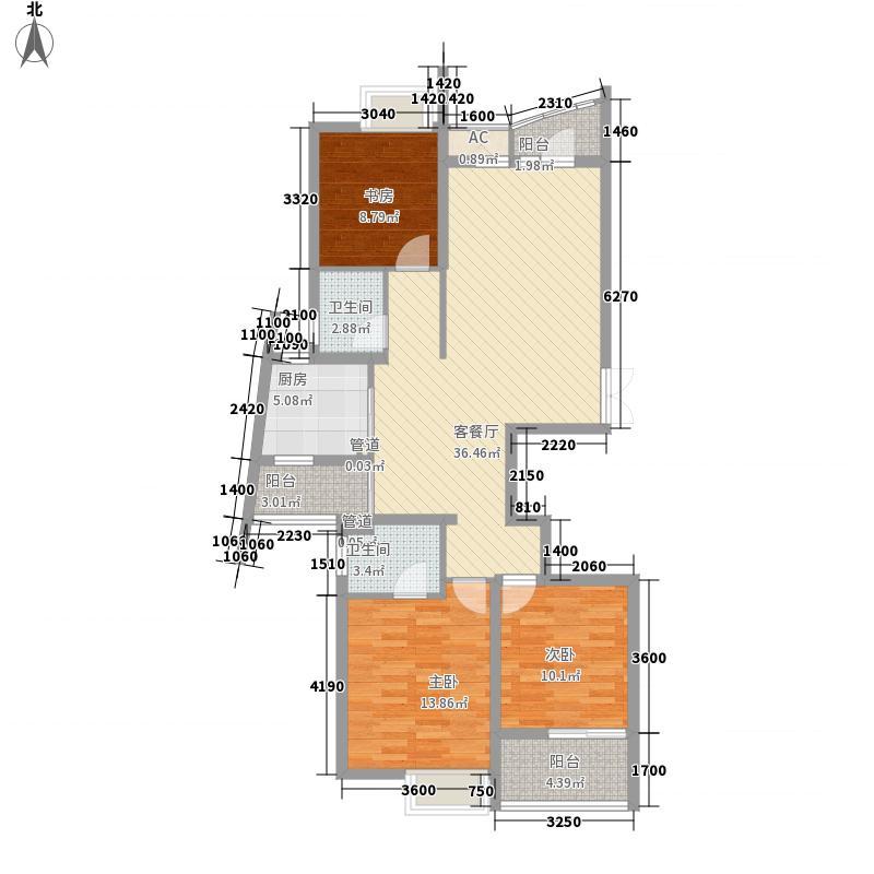 金色家园80.00㎡金色家园户型10室