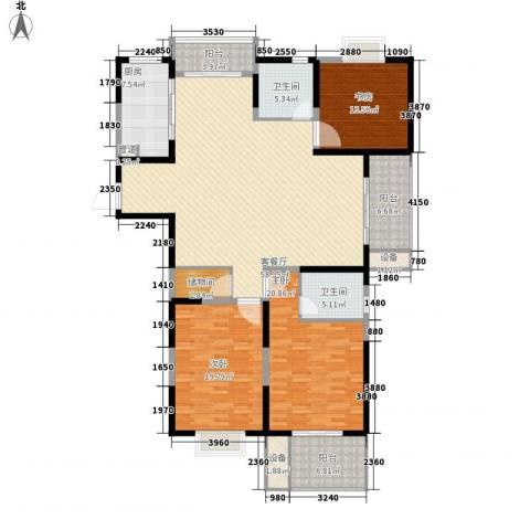 荣亨逸都3室1厅2卫1厨153.90㎡户型图