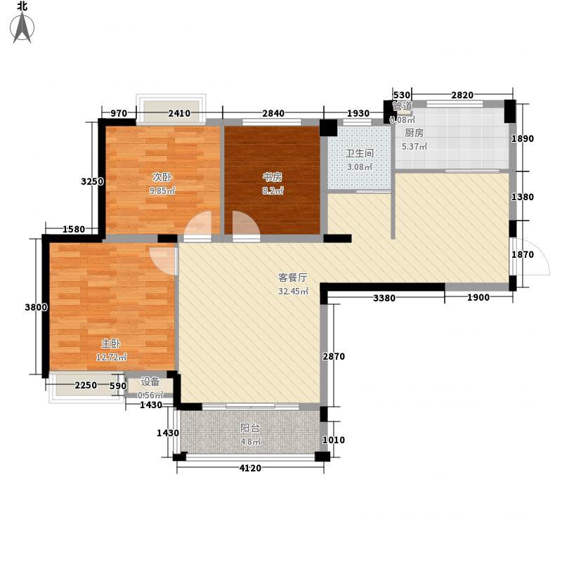 远大尚林苑108.02㎡远大尚林苑户型图E1户型3室2厅1卫1厨户型3室2厅1卫1厨