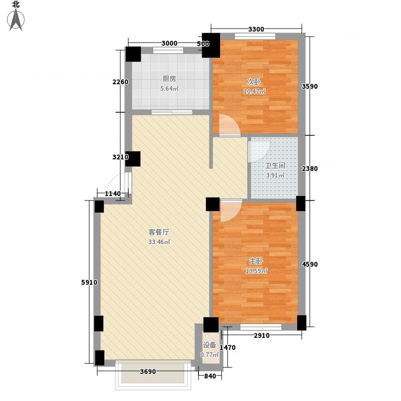 领秀朝阳97.75㎡领秀朝阳户型图二期瞰景高层3、4号楼D户型图2室2厅1卫户型2室2厅1卫