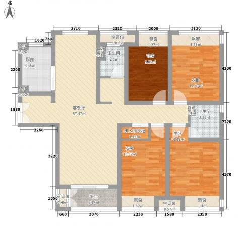 海上硕和城4室1厅2卫1厨148.00㎡户型图