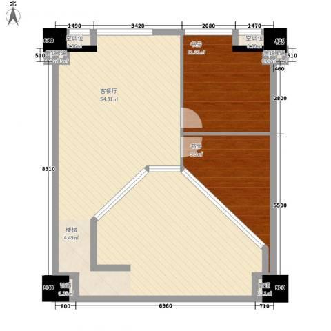 中茂世纪财富广场2室1厅0卫0厨110.00㎡户型图