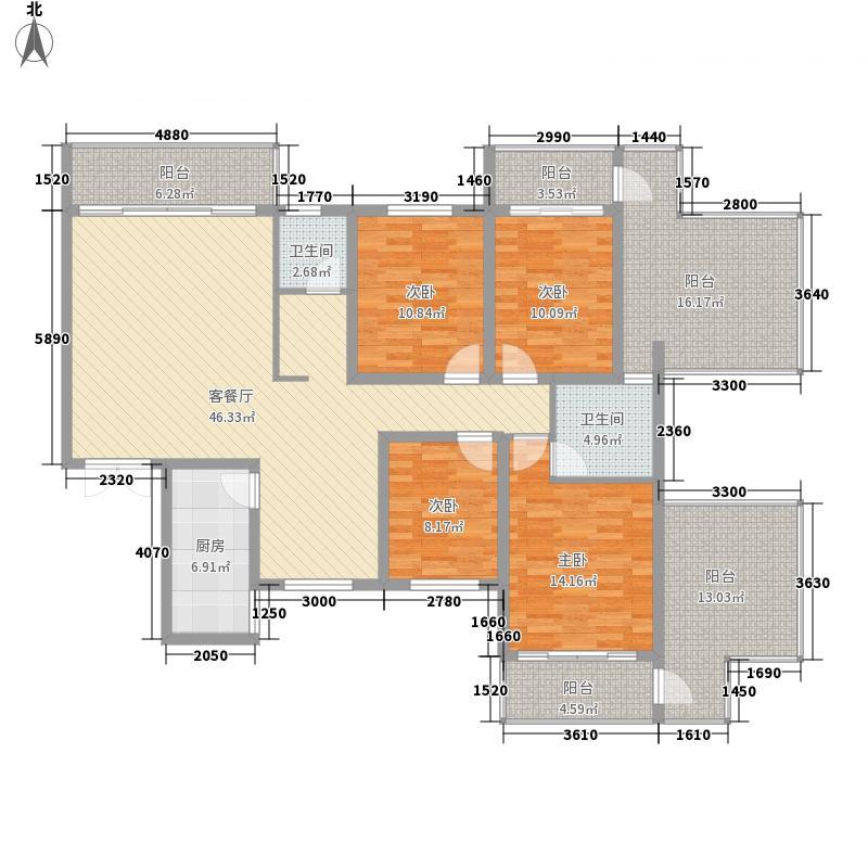香樟雅郡167.59㎡一期面积16759m户型