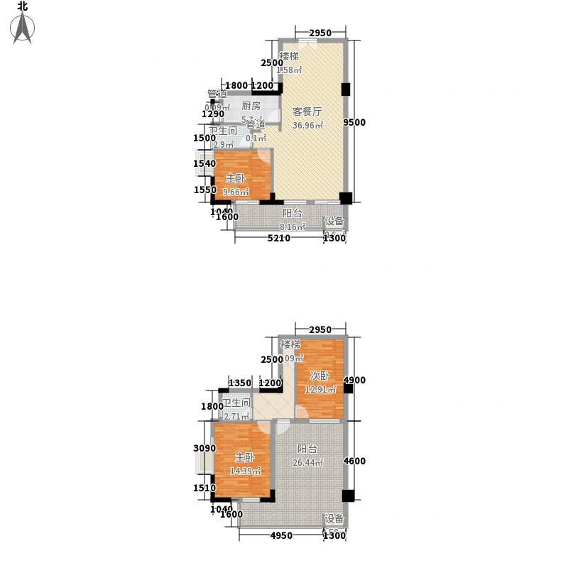 丰融尚城137.60㎡C栋(18、19)01户型3室2厅2卫1厨