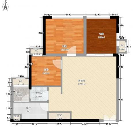 和庄3室2厅1卫0厨91.00㎡户型图