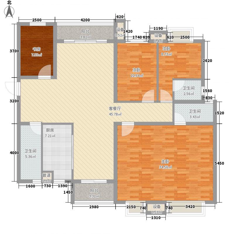嘉和城温莎北郡135.00㎡二期C20户型5室2厅3卫1厨