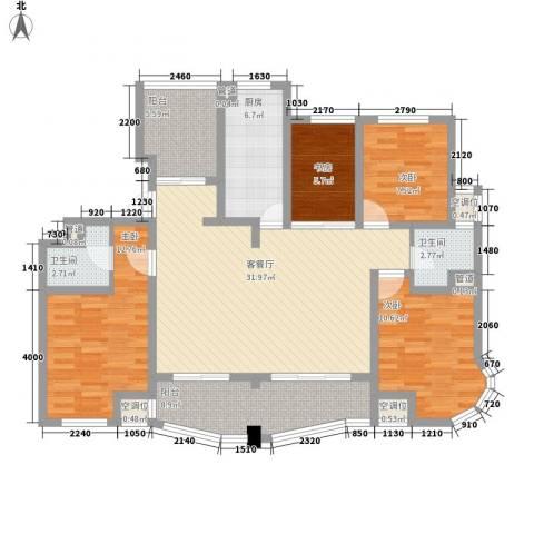 荣域飘鹰锦和花园4室1厅2卫1厨144.00㎡户型图