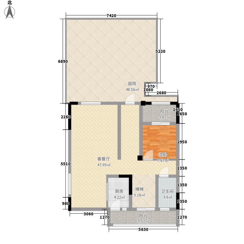和记黄埔�湖园一期洋房8/9幢C1下叠2户型3室2厅2卫1厨