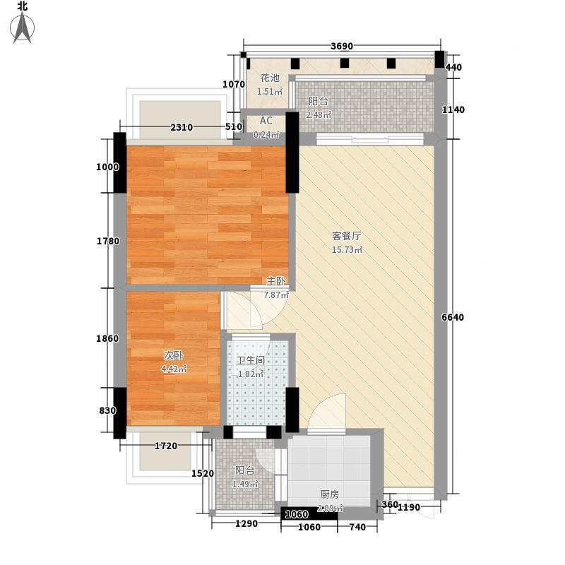 卡布奇诺56.00㎡卡布奇诺户型图2室1厅户型图2室1厅1卫1厨户型2室1厅1卫1厨