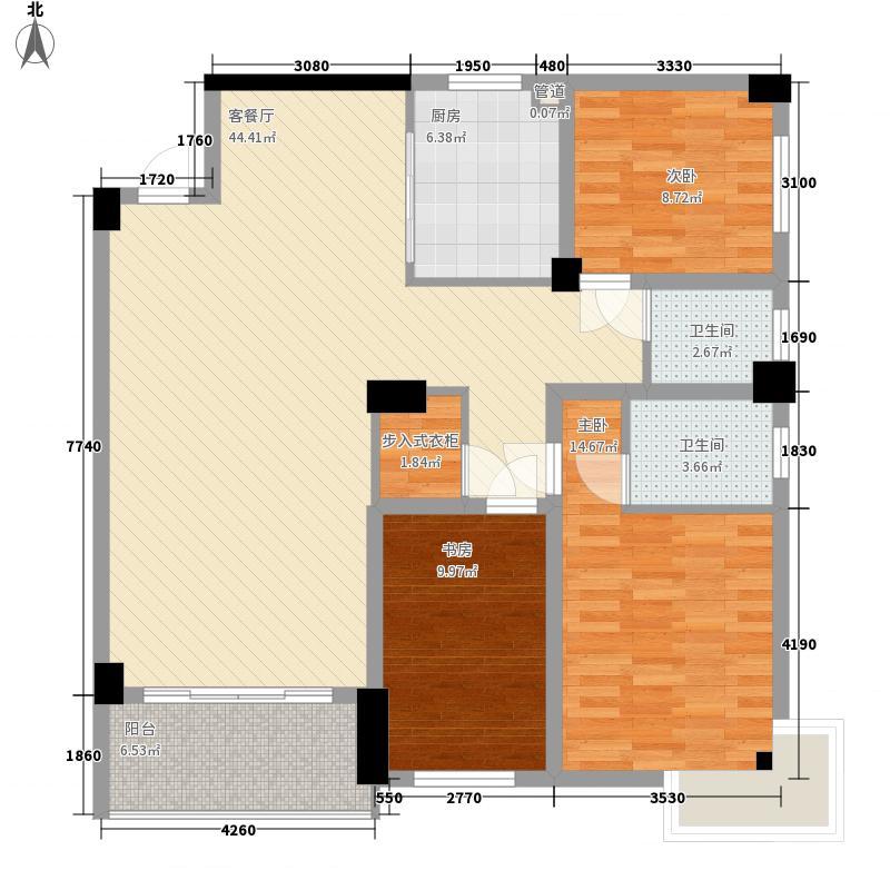 华欣公寓126.45㎡N面积12645m户型